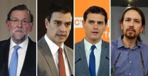 Rajoy, Sanchez, Iglesias y Rivera