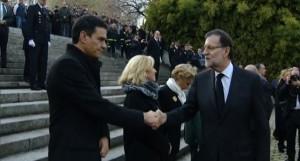 Rajoy y Sánchez de luto