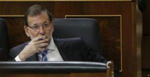 Rajoy en el escaño