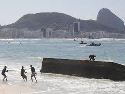 platarforma de saltos hundida en Rio