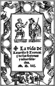 Portada de la primera edición de EL LAZARILLO DE TORMES