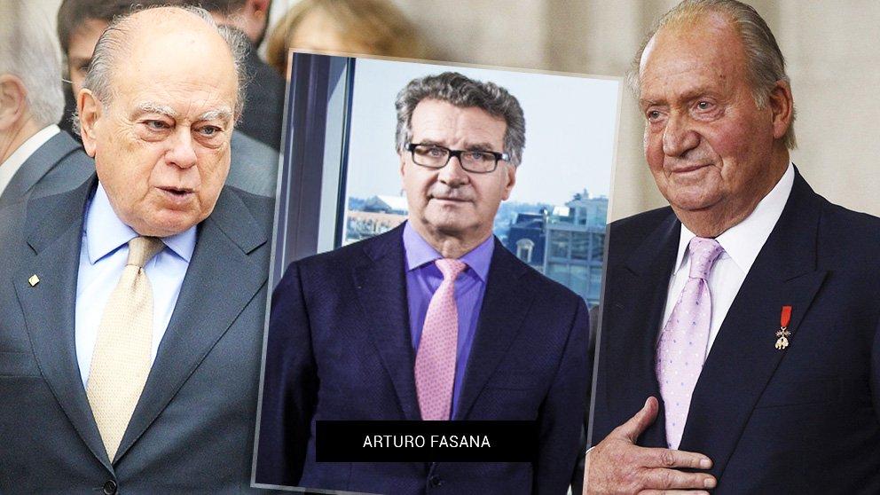 Pujol, Fasana y Juan Carlos I