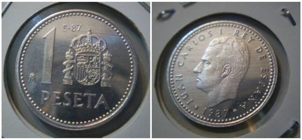 monedas de Juan Carlos I en 1987