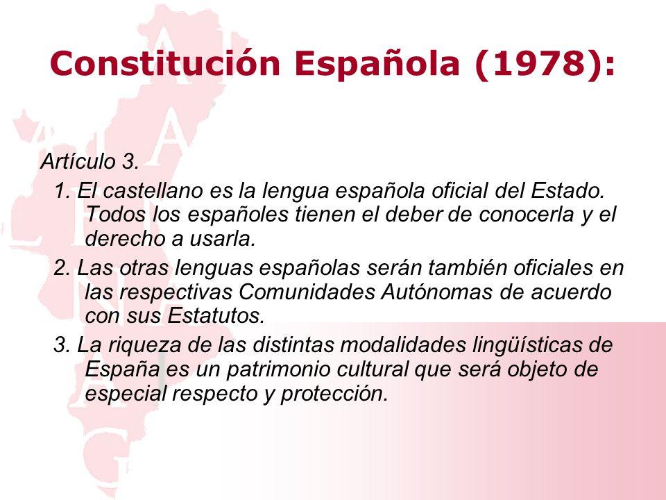Artículo 3 de la Constitución Española